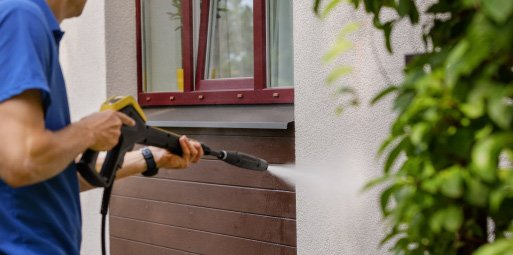 a professional will know exactly the right pattern and movements to make when performing a power wash.