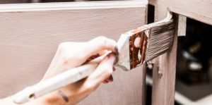 Painting the inside of a kitchen cabinet